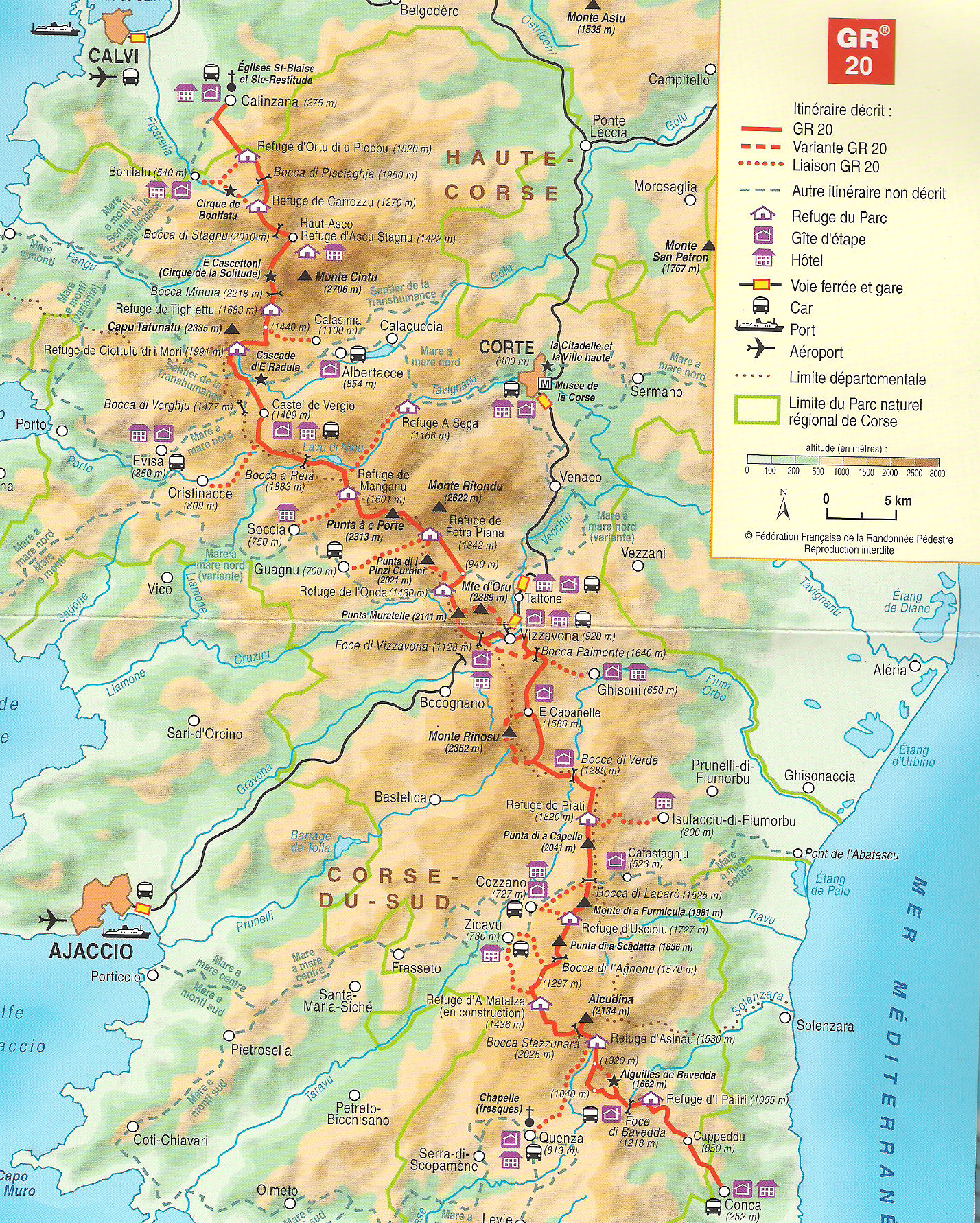 Corsica 2016 GR20 from South to North standard guided version